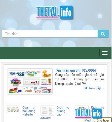 thiet ke web mobile friendly